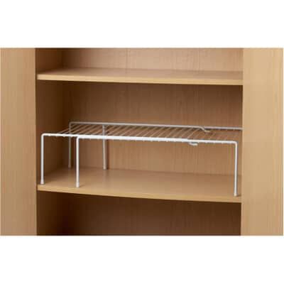 It S A Keeper 17 White Wire Expandable Cupboard Shelf Home Hardware