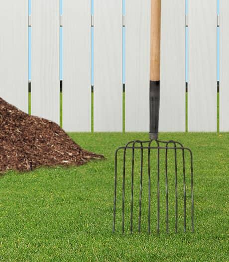 MARK'S CHOICE Fourche de jardin à 10 dents pour compost et paillis