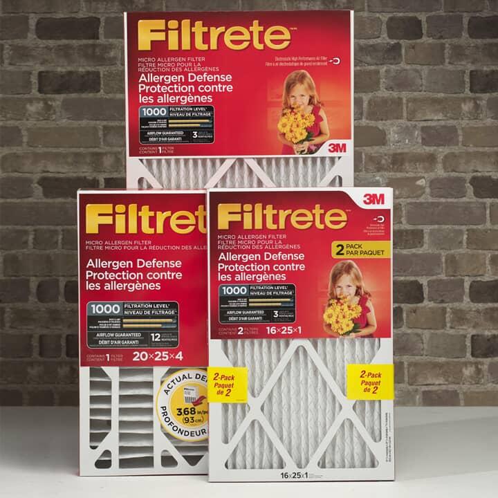 Filtres pour appareil de chauffage central