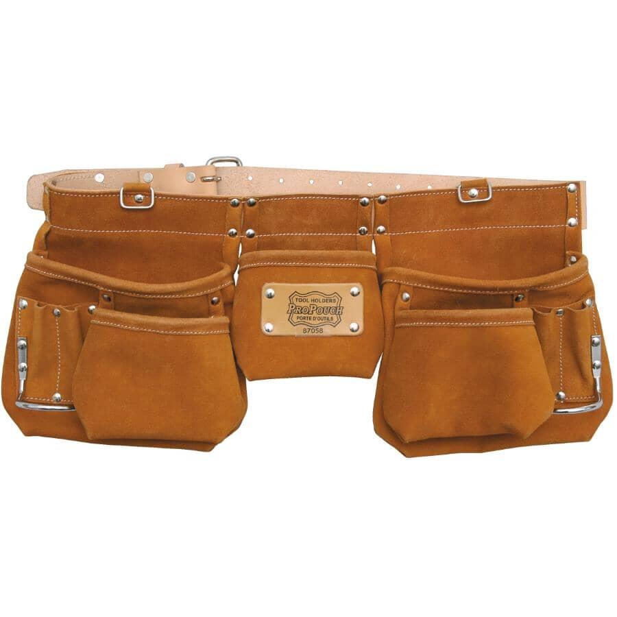 PROPOUCH:12 Pocket Split Leather Carpenters Waist Apron