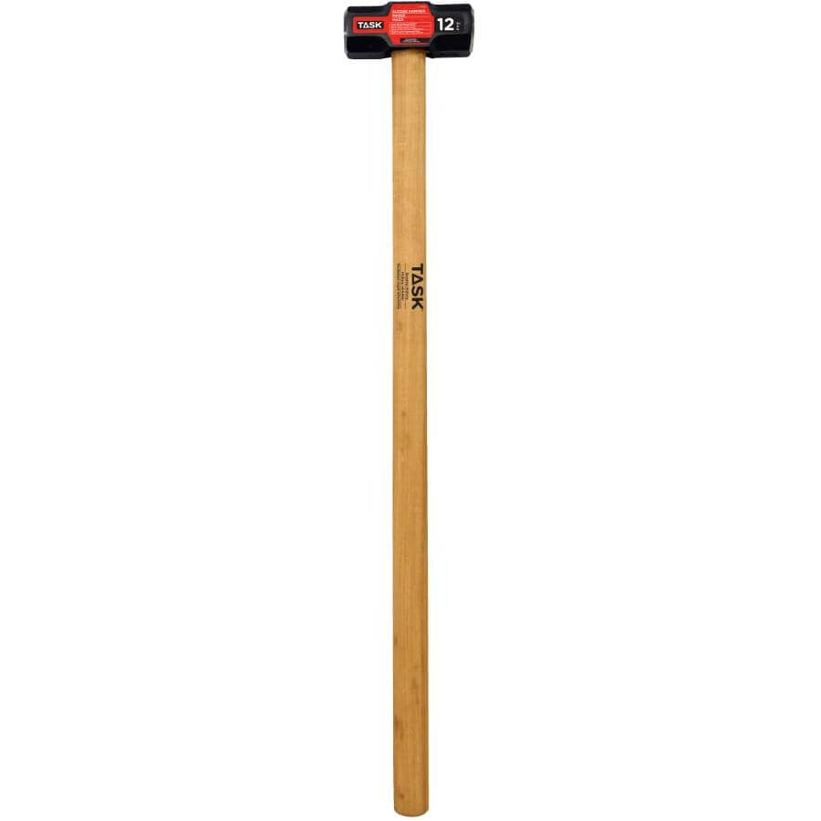 """TASK:12 lb Double Face Sledge Hammer - with 36"""" Hickory Handle"""