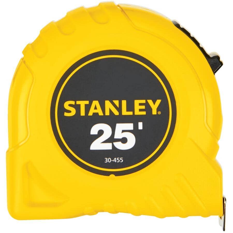 STANLEY:Ruban à mesurer jaune, 1po x 25pi