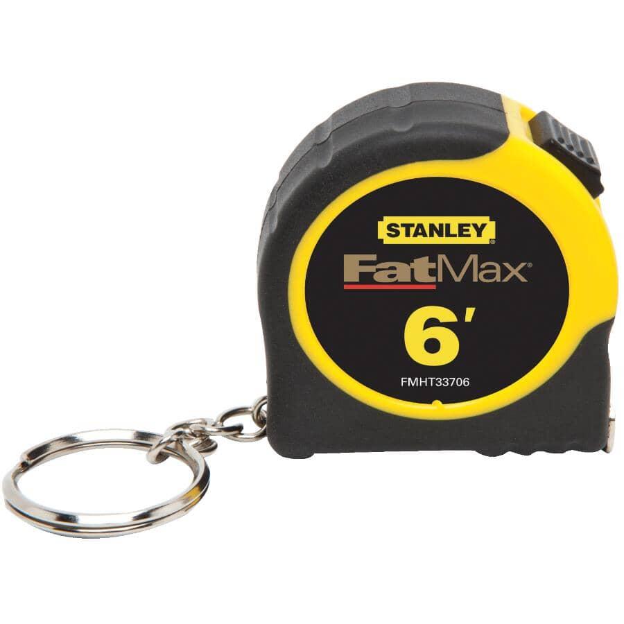 STANLEY:Ruban à mesurer Fatmax avec chaîne porte-clés, 1/2 po x 6pi