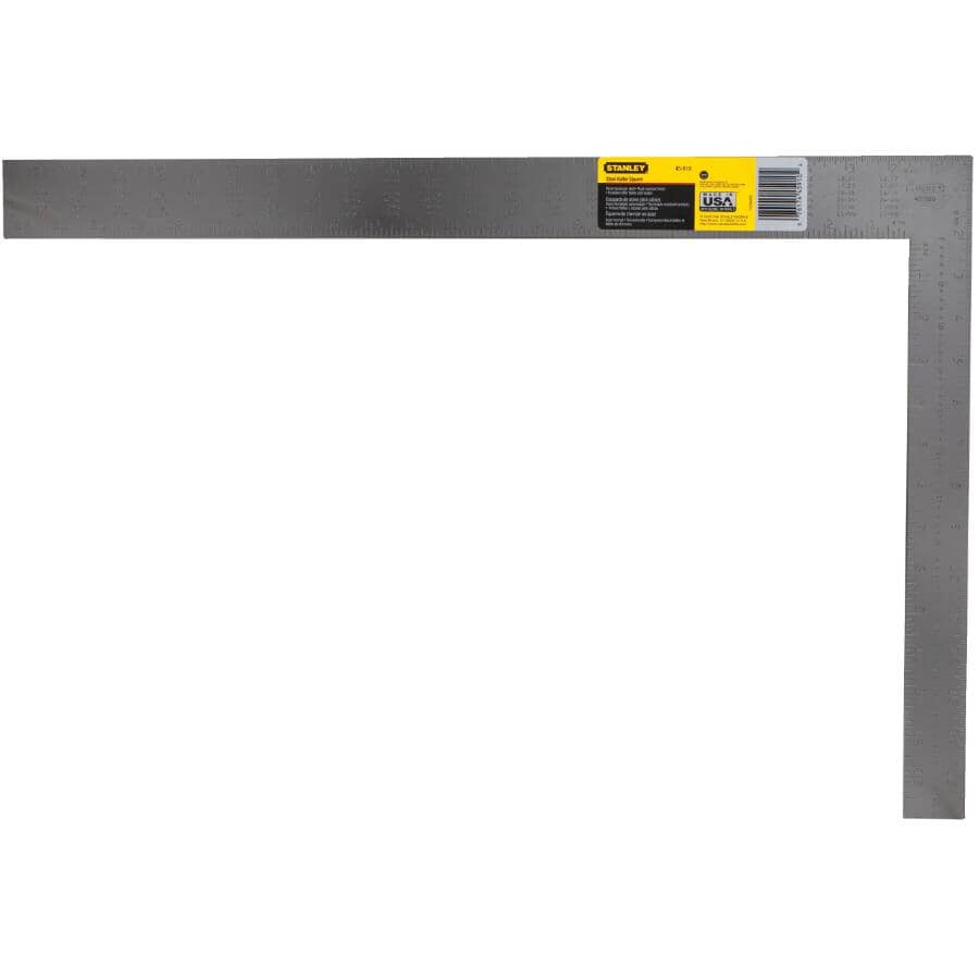 """STANLEY:16"""" x 24"""" Steel Lacquer Rafter Square"""