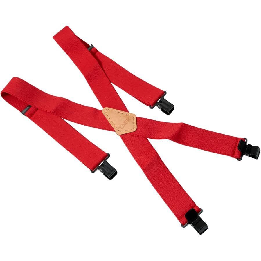 TASK:Red Work Apron Suspenders