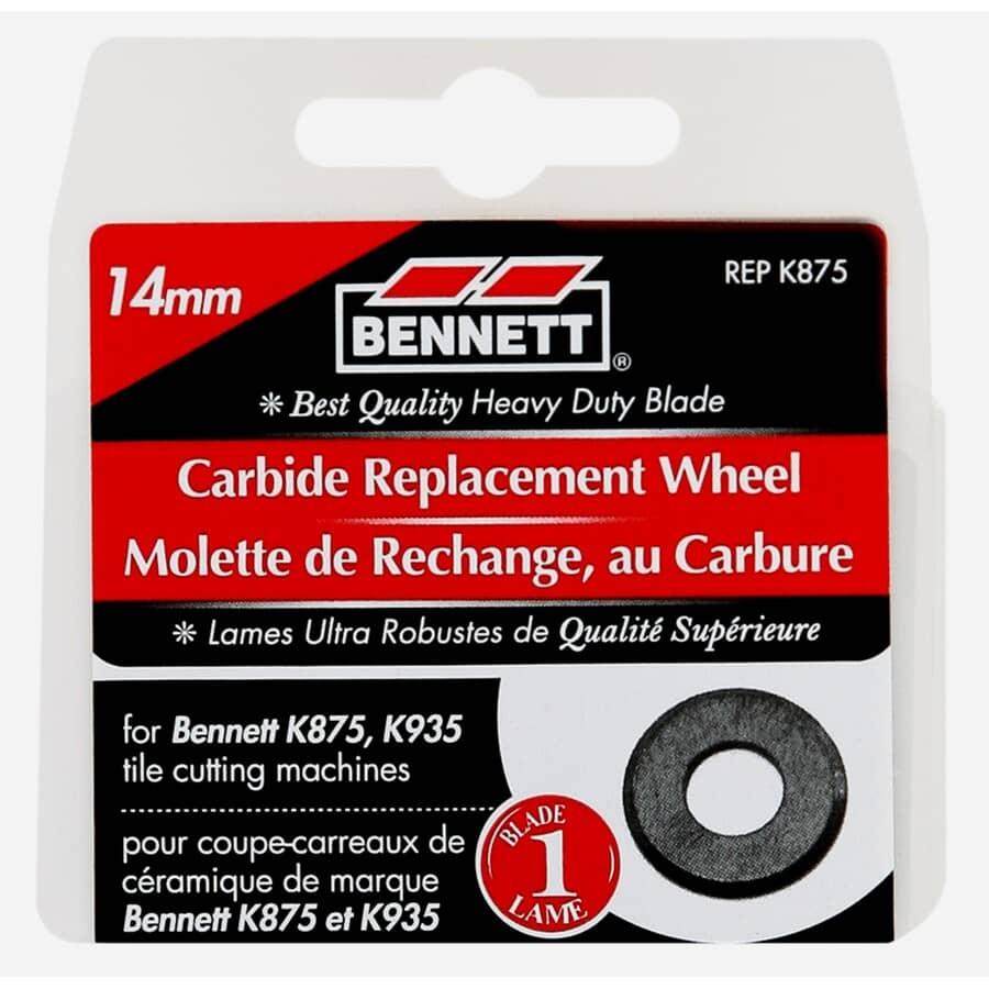 BENNETT:14mm Carbide Tile Cutter Wheel