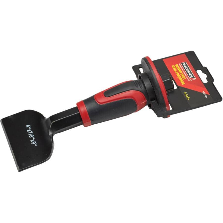 """BENCHMARK:4"""" Steel Brick Chisel, with Grip"""