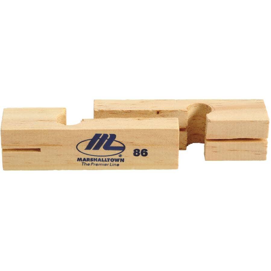"""MARSHALLTOWN:1 Pair 3-3/4"""" Wood Line Blocks"""
