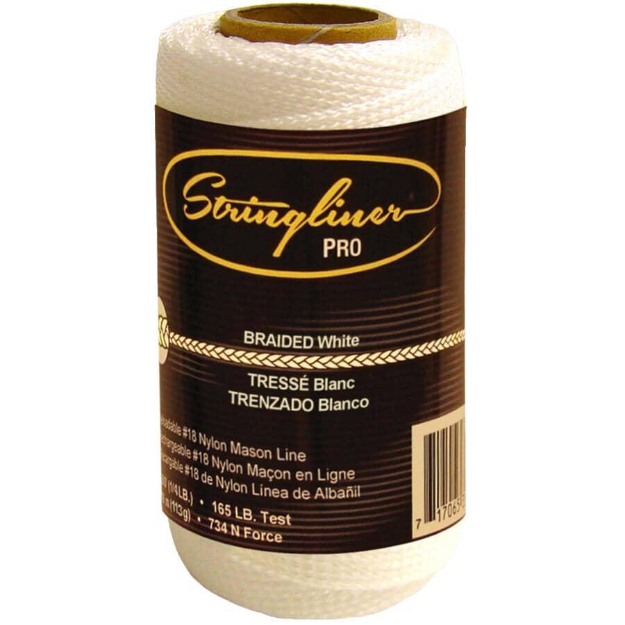 STRINGLINER:250' White Braided Nylon #18 Mason Line