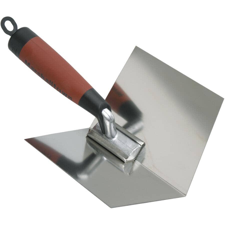 "MARSHALLTOWN:4"" x 5"" Durasoft Stainless Steel Corner Drywall Trowel"