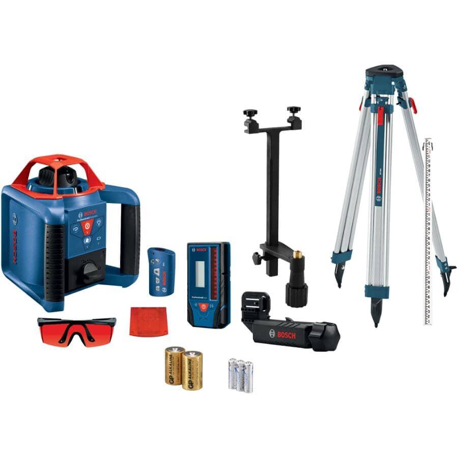 BOSCH:Rotary Laser Kit - Self-Leveling + Horizontal/Vertical