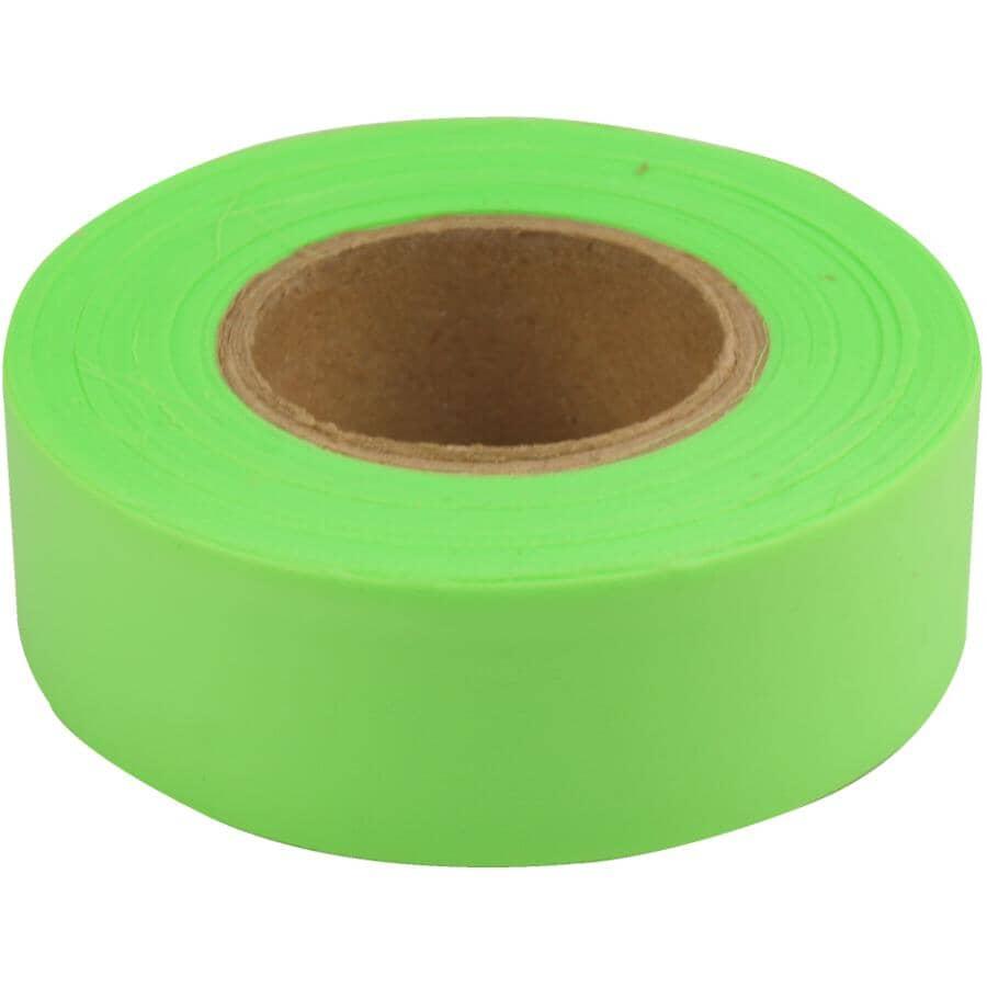 CH HANSON:Ruban d'arpenteur lime fluorescent, 1po x 150pi