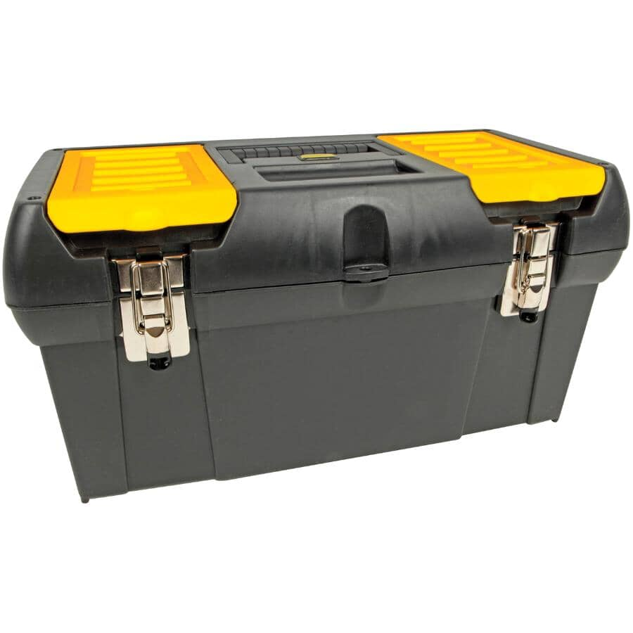 """STANLEY:19"""" x 10"""" x 10"""" Tool Box, with Plastic Tray"""