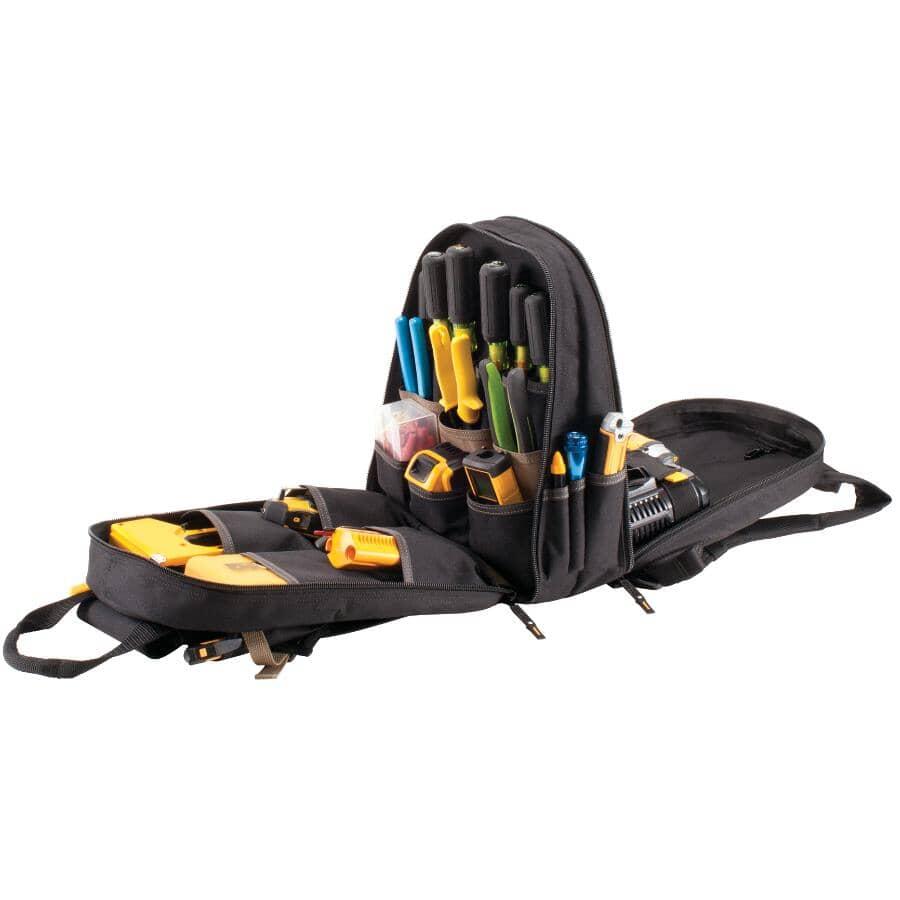 KUNY'S:Tool Bag Backpack, with 44 Pockets