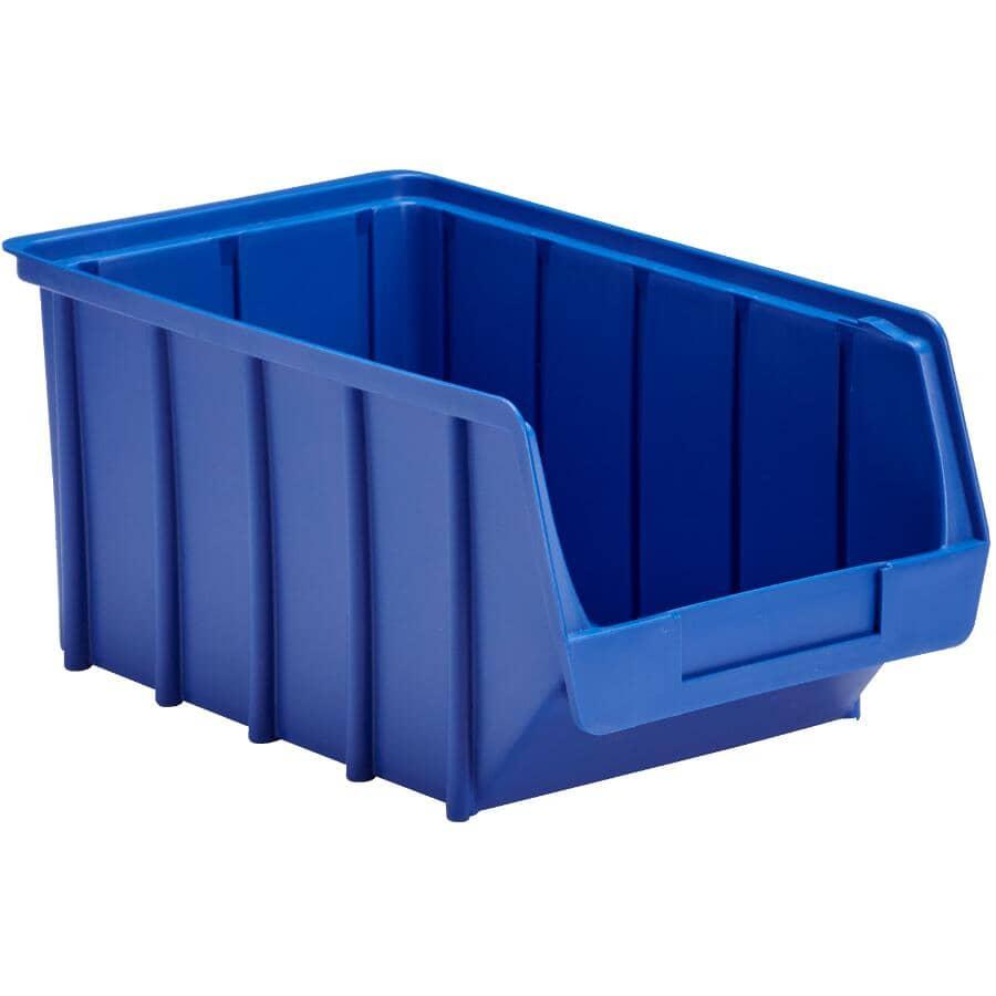 """GENERIC:7"""" x 12"""" Blue Plastic Storage Bin"""