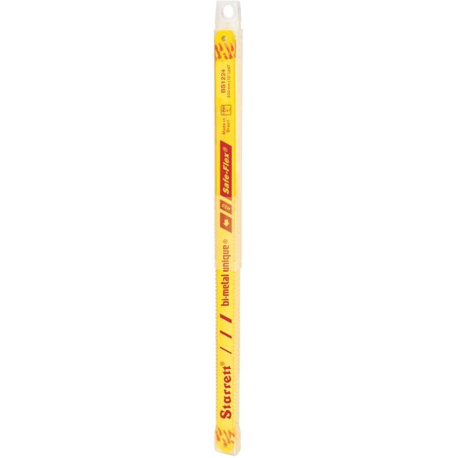 STARRETT:Paquet de 10 lames bimétalliques pour scie à métaux de 12po, 24 dents