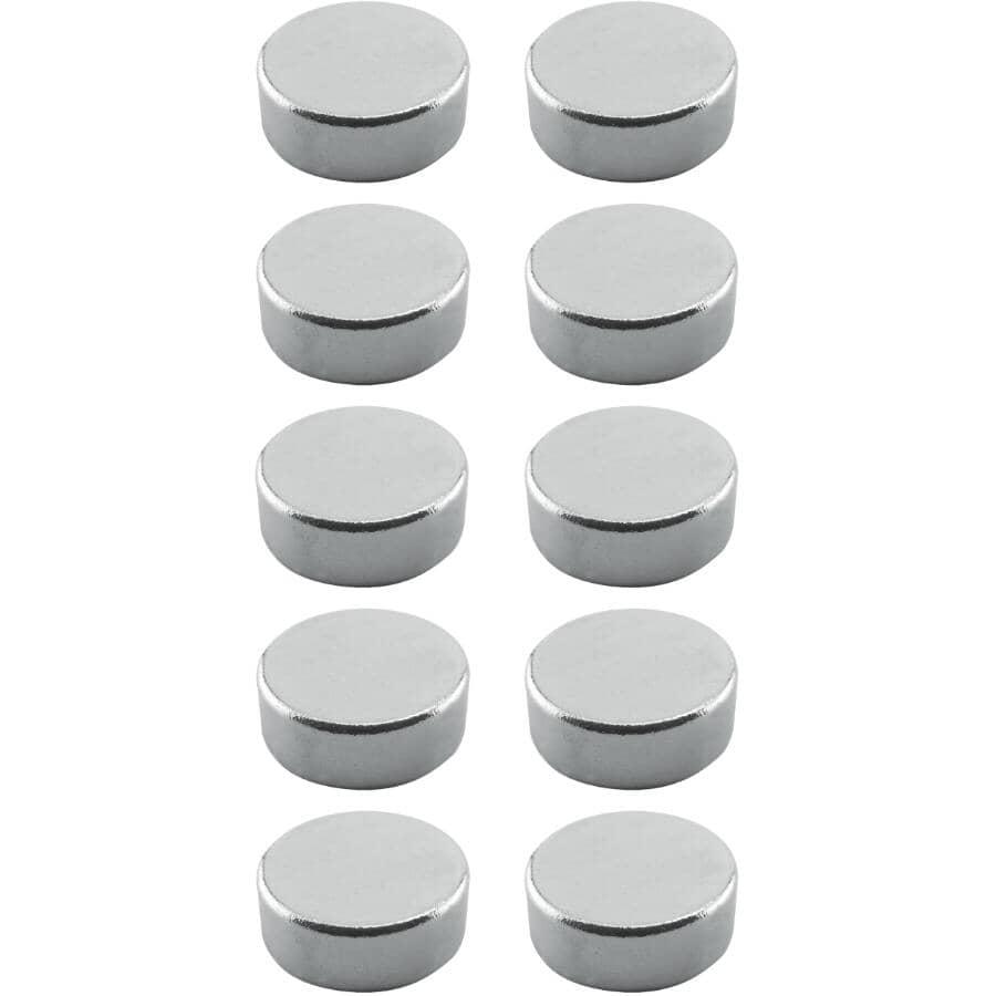 "THE MAGNET SOURCE:10 Piece .3"" Neodymium Super Magnets"