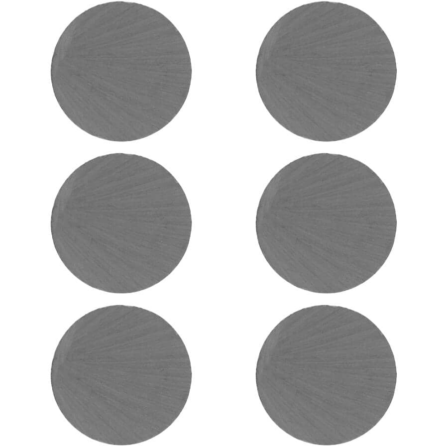 """THE MAGNET SOURCE:6 Piece 1"""" Ceramic Disc Magnets"""