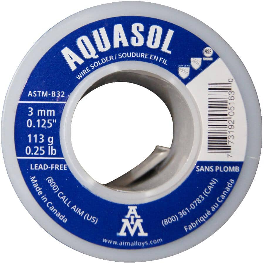 AIM:Fil à soudure à l'argent sans plomb Aquasol, 113g
