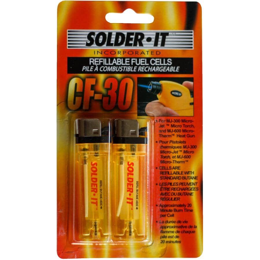 SOLDER-IT:Paquet de 2 piles à combustion rechargeables