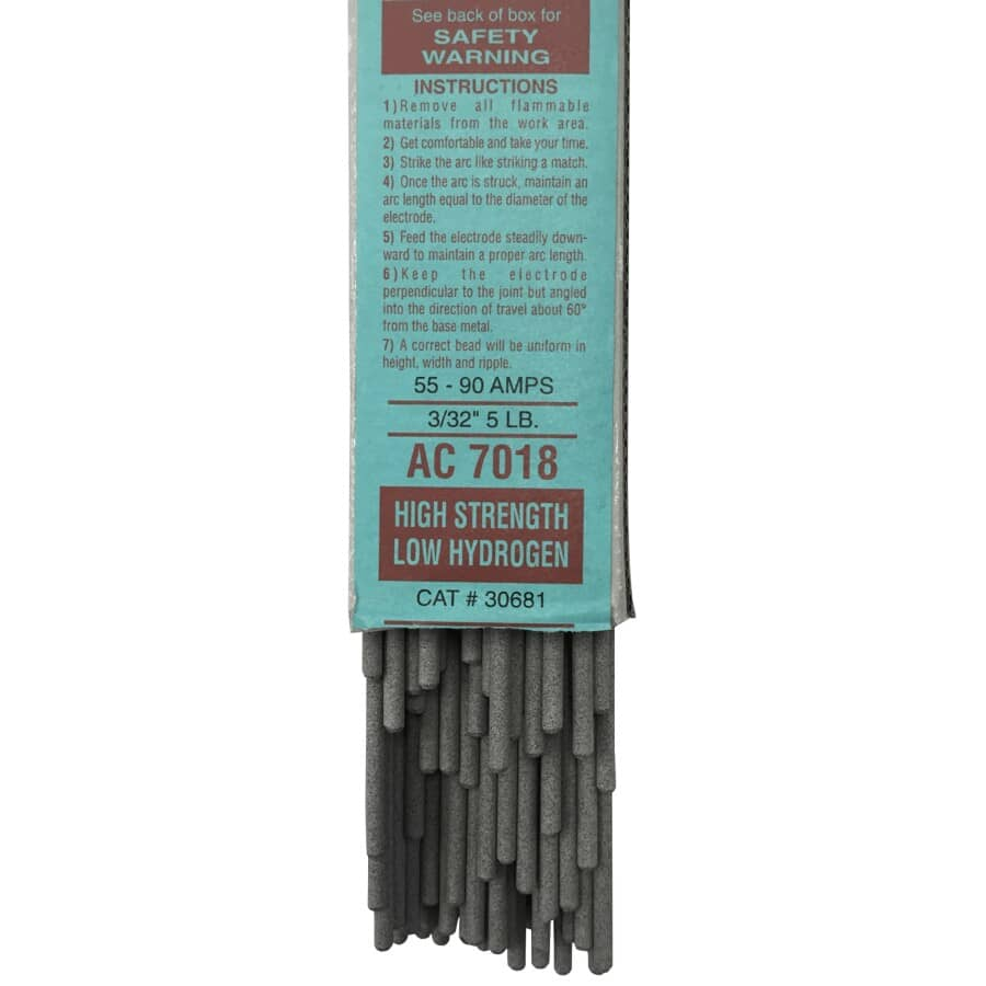 """FORNEY:3/32"""" 5lb 7018AC Welding Rods"""