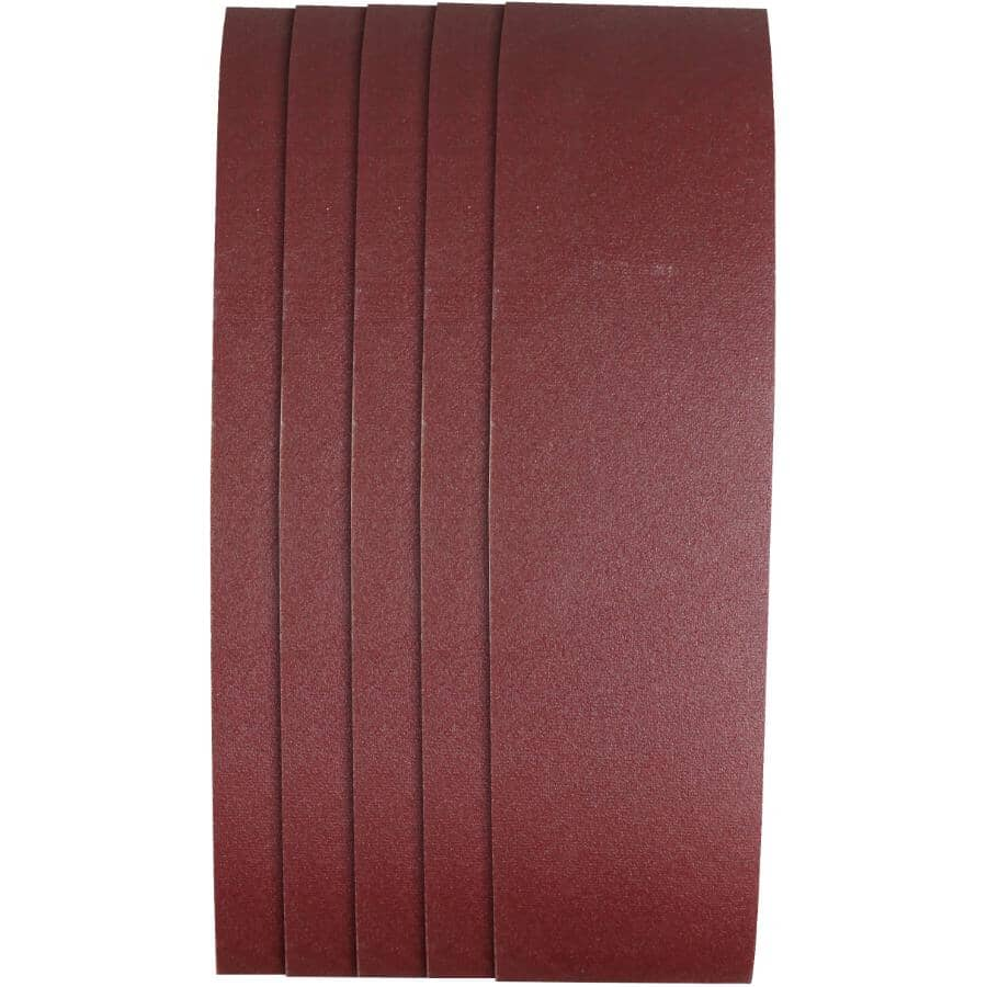"BENCHMARK:5 Pack 3"" x 24"" 120 Grit Aluminum Oxide Belts"