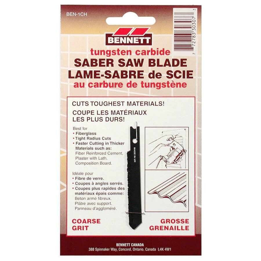 BENNETT:Coarse Grit Carbide U-Shank Jigsaw Blade, for Fiberglass Cutting