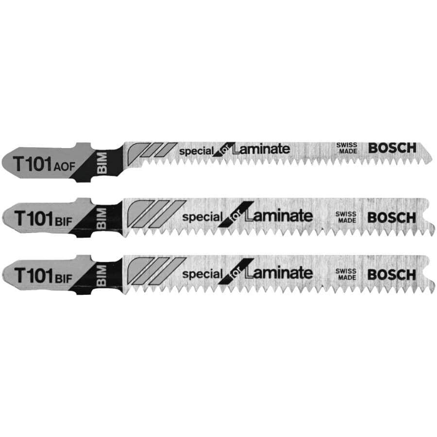 BOSCH:3 Piece T Shank Jigsaw Blade Set, for Hardwood/Laminate Flooring