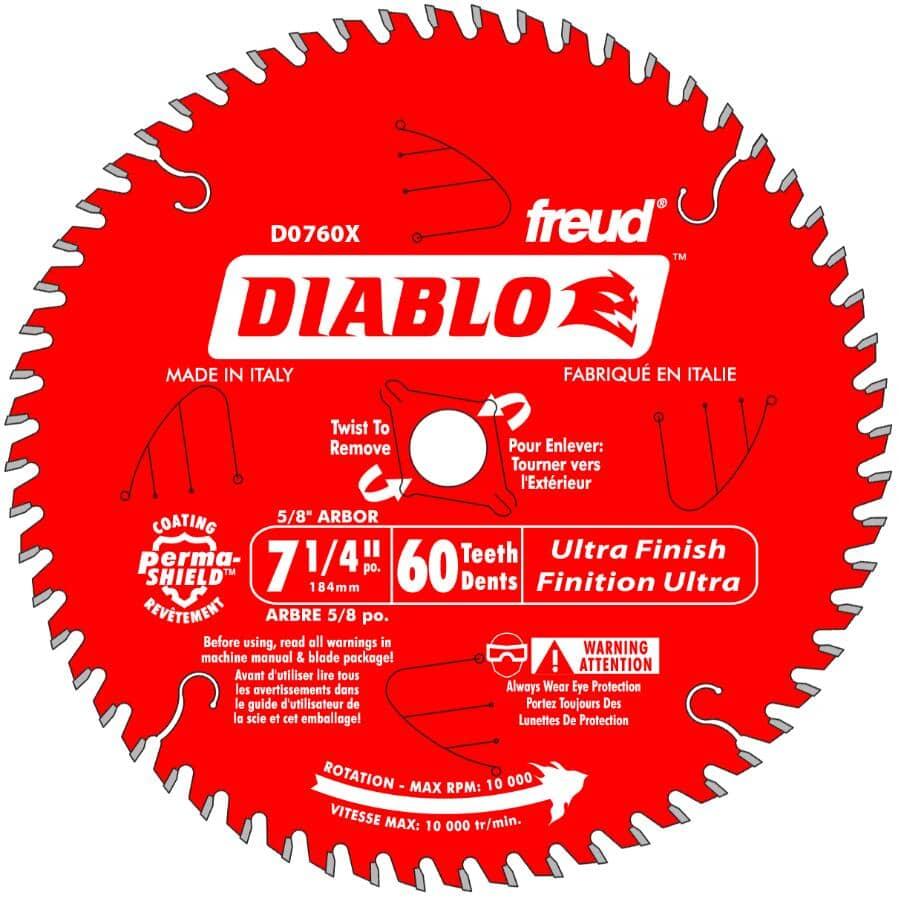 "DIABLO:7-1/4"" 60 Tooth Finish Carbide Circular Saw Blade"
