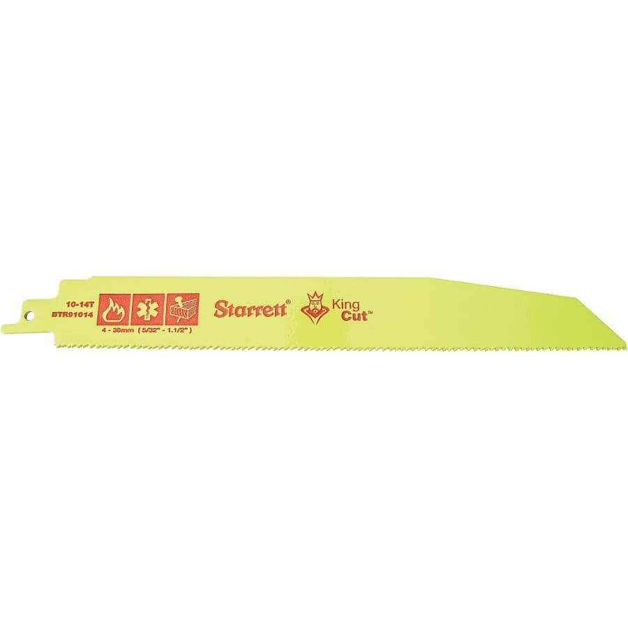STARRETT:Paquet de 2 lames de scie alternative de 9 po bimétallique pour la démolition, 10/14 dents