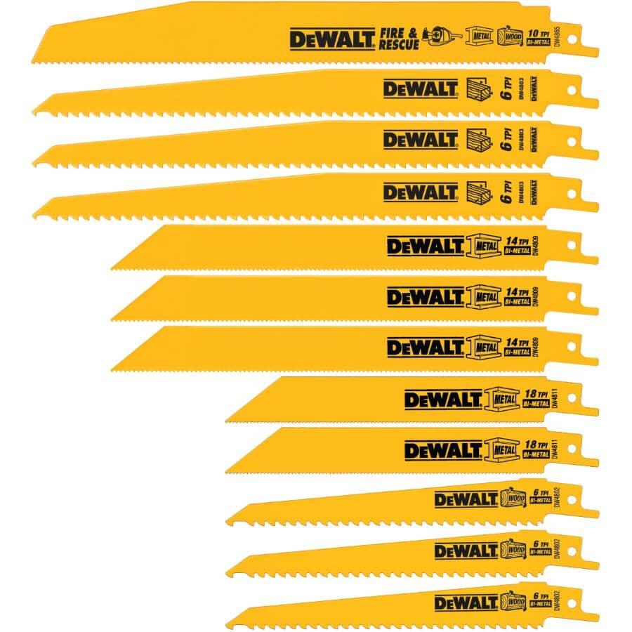 DEWALT:Paquet de 12 lames de scie alternative pour métal et bois