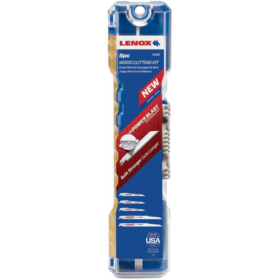 LENOX:5 Piece Wood Reciprocating Blade Set