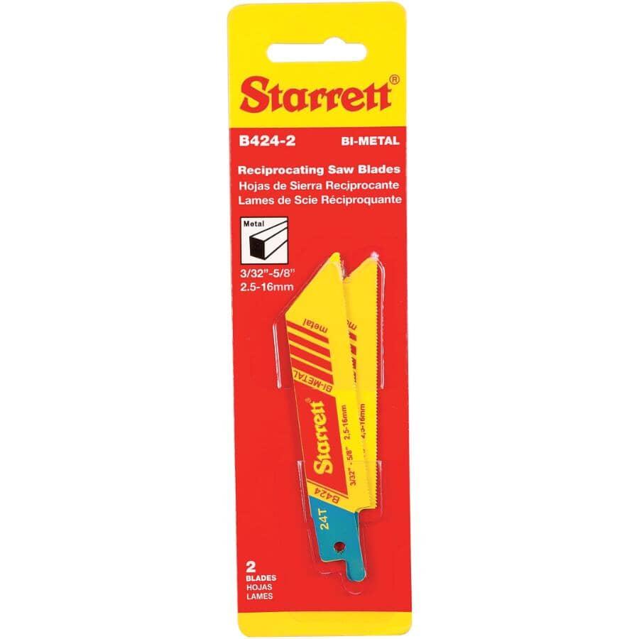 STARRETT:Paquet de 2 lames de scie alternative de 4 po à usages multiples, 24 dents