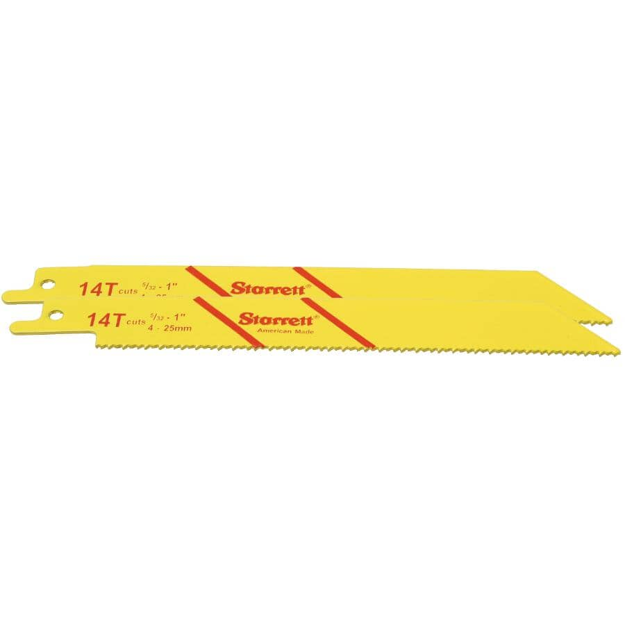 STARRETT:Paquet de 2 lames de scie alternative de 6 po à usages multiples, 14 dents