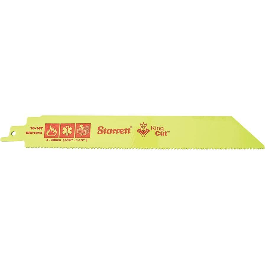 STARRETT:Paquet de 2 lames de scie alternative de 8 po pour la démolition, 10/14 dents