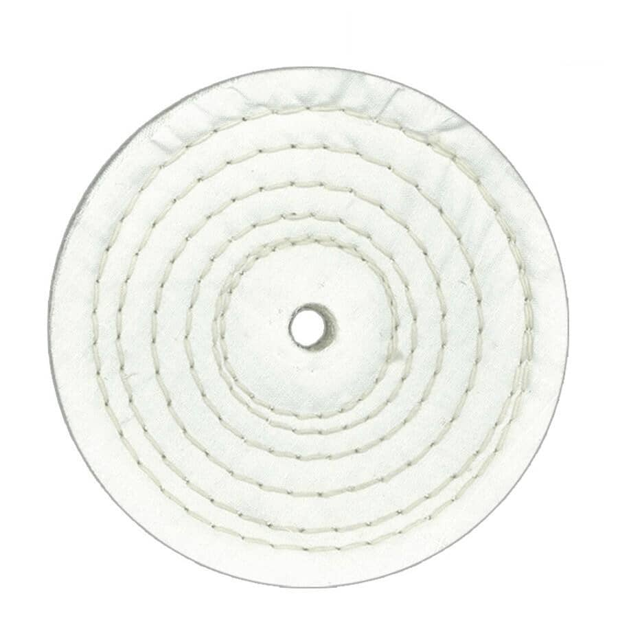 "BENCHMARK:6"" x 1/2"" Cotton Buffing Wheel"