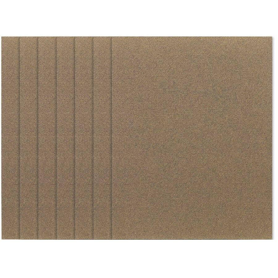 BENCHMARK:6 Pack 220 Grit 1/4 Sheet Aluminum Oxide Sandpaper