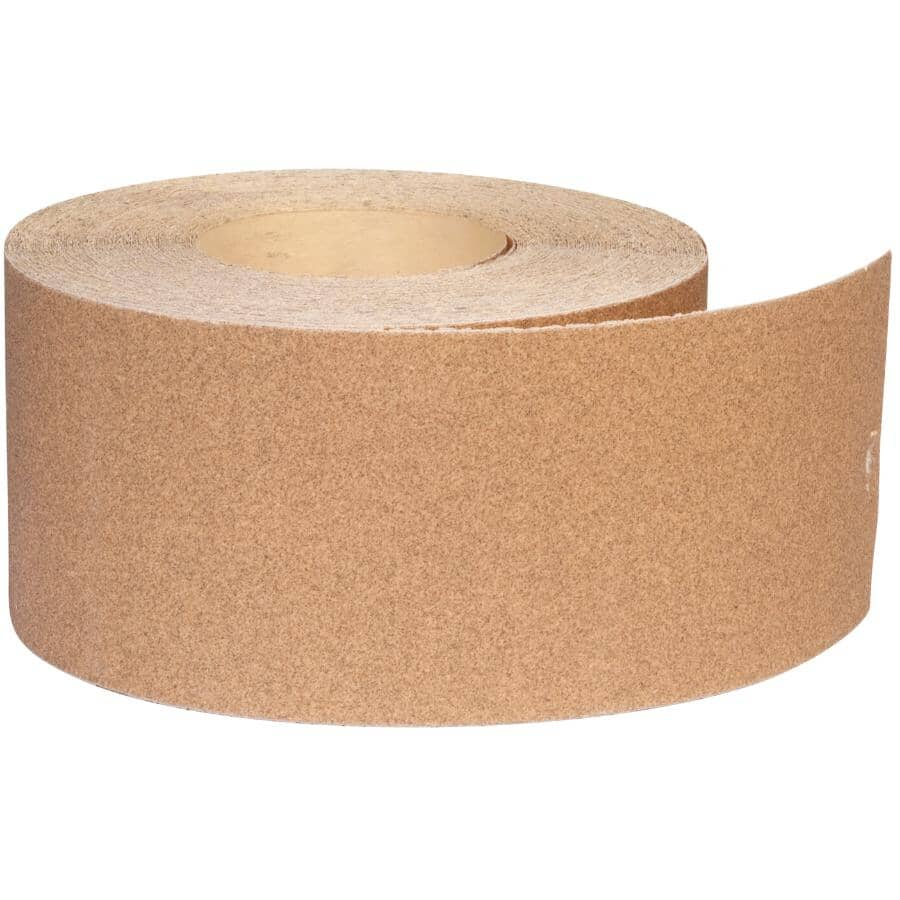 "NORTON:100 Grit Aluminum Oxide Sandpaper Roll - 3-2/3"" x 25'"