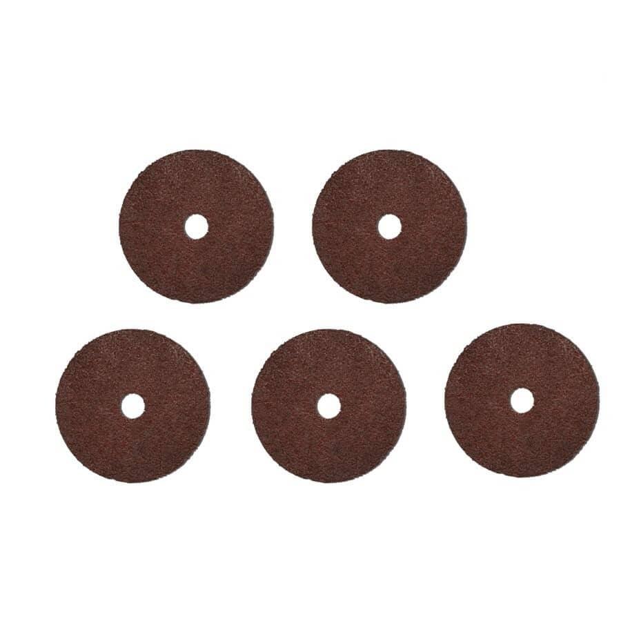 "BENCHMARK:5 Pack 24 Grit 4-1/2"" x 7/8"" Fibre Discs"