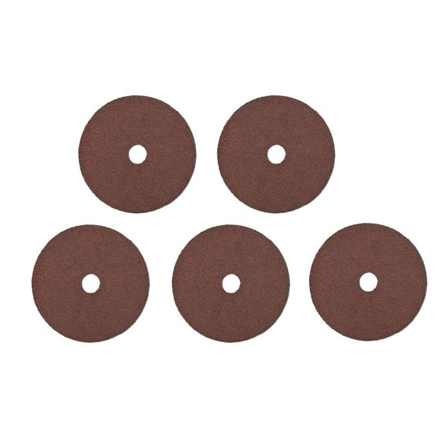"BENCHMARK:5 Pack 50 Grit 4-1/2"" x 7/8"" Resin Fibre Discs"