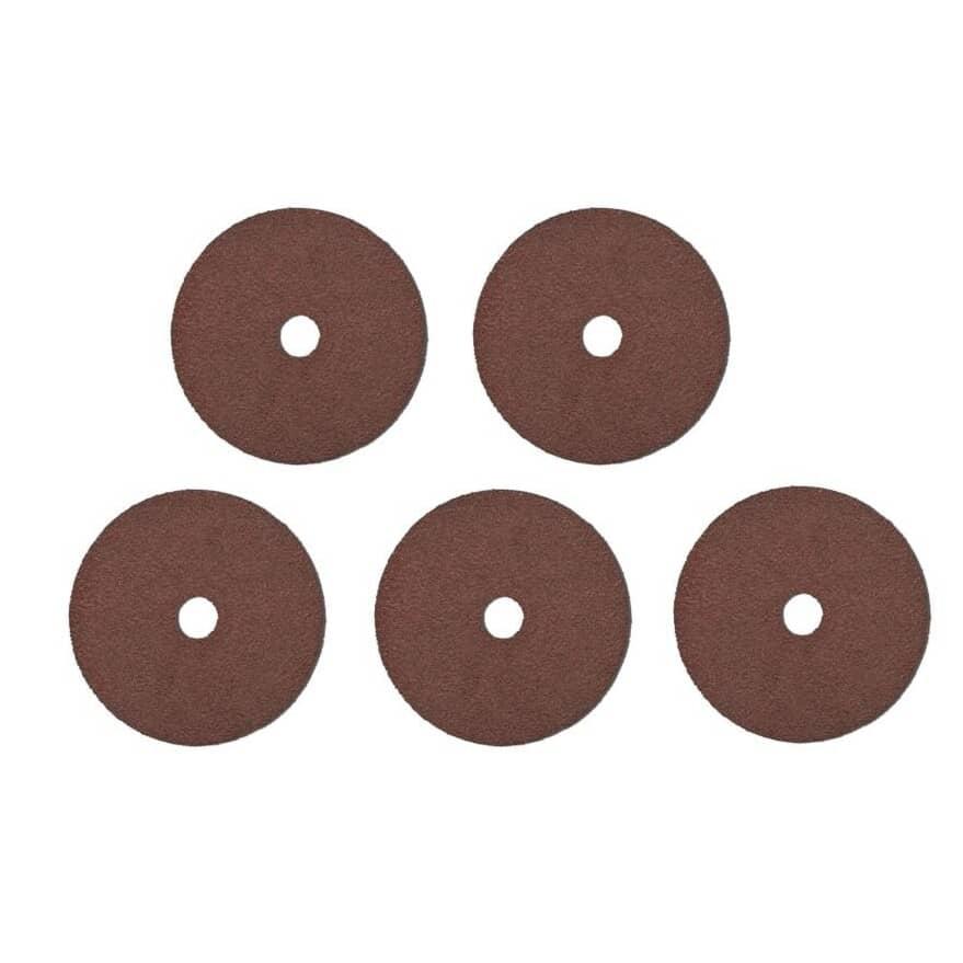 "BENCHMARK:5 Pack 80 Grit 4-1/2"" x 7/8"" Resin Fibre Discs"