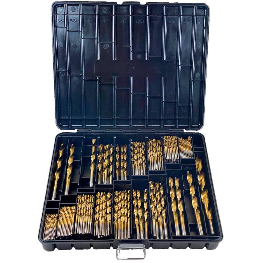 BENCHMARK:305 Piece Titanium Coated Drill Bit Set