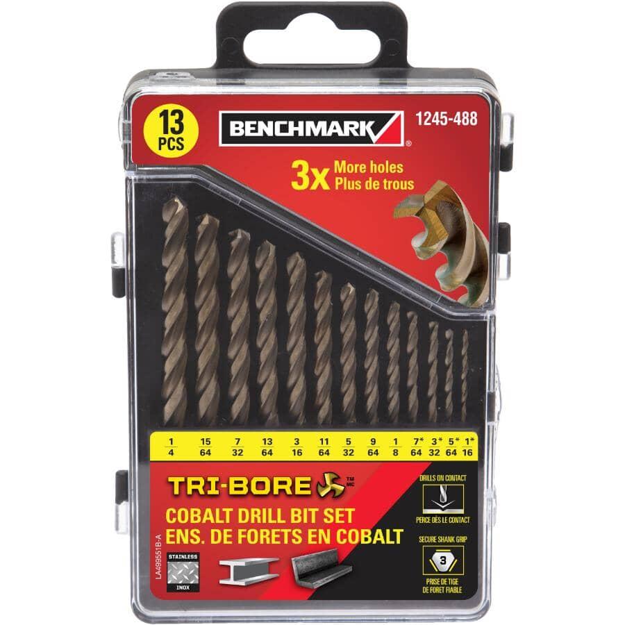 BENCHMARK:13 Piece Tri-bore Cobalt Drill Bit Set