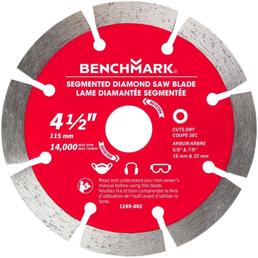 "BENCHMARK:4.5"" Segmented Dry Diamond Blade"