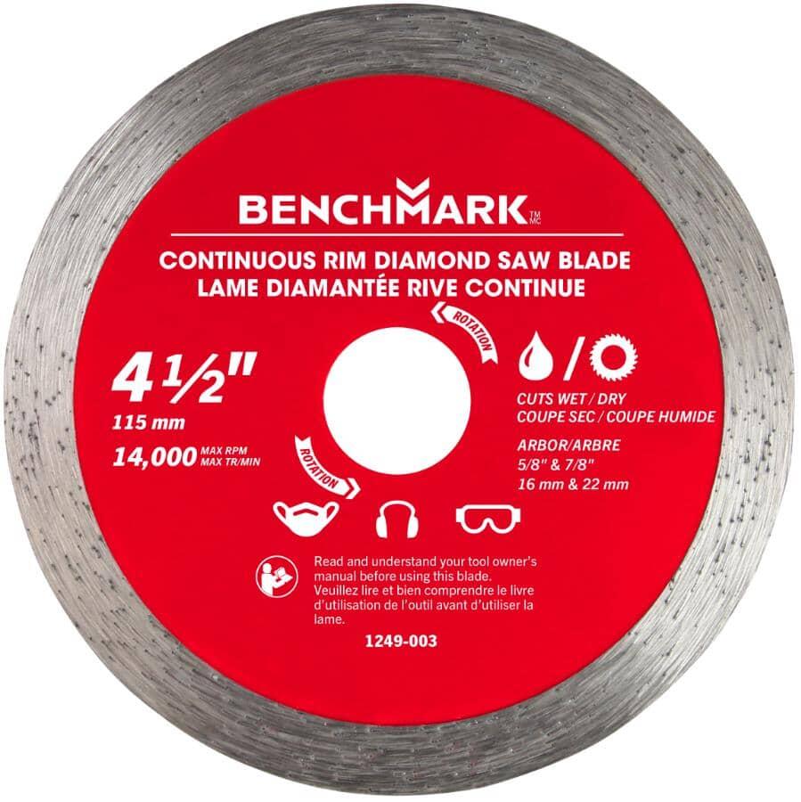 "BENCHMARK:4.5"" Continuous Wet/Dry Diamond Blade"