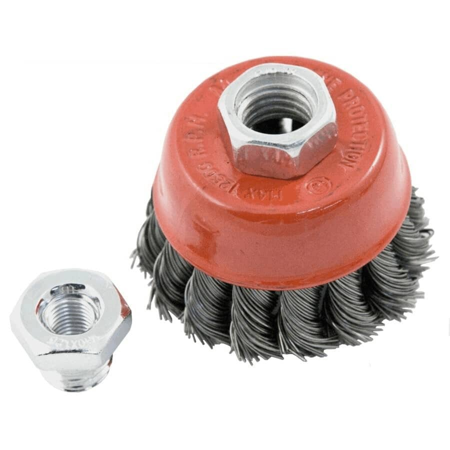 """BENCHMARK:2-1/2"""" Knotted Wire Cup Brush"""