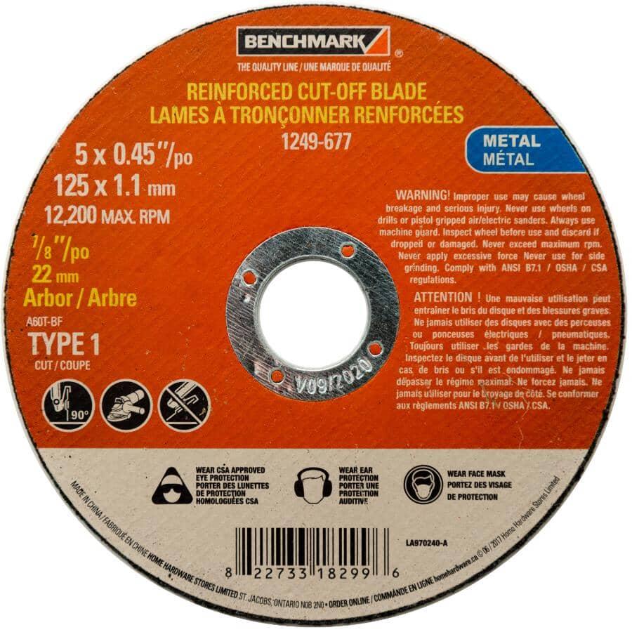 "BENCHMARK:5"" x 0.045"" x 7/8"" Metal Cut-Off Wheel"