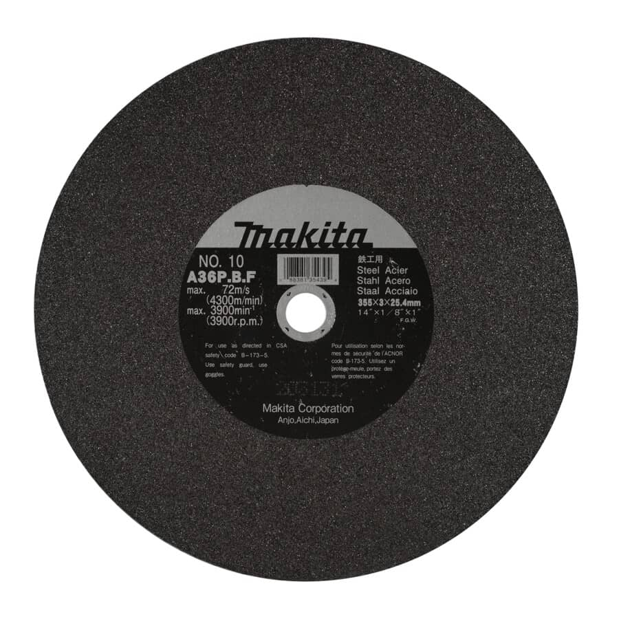 "MAKITA:14"" x 1/8"" x 1"" Metal Cut-Off Wheel"