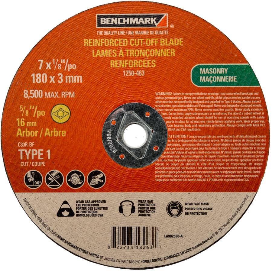 "BENCHMARK:7"" x 1/8"" x 5/8"" Masonry Cut-Off Wheel"