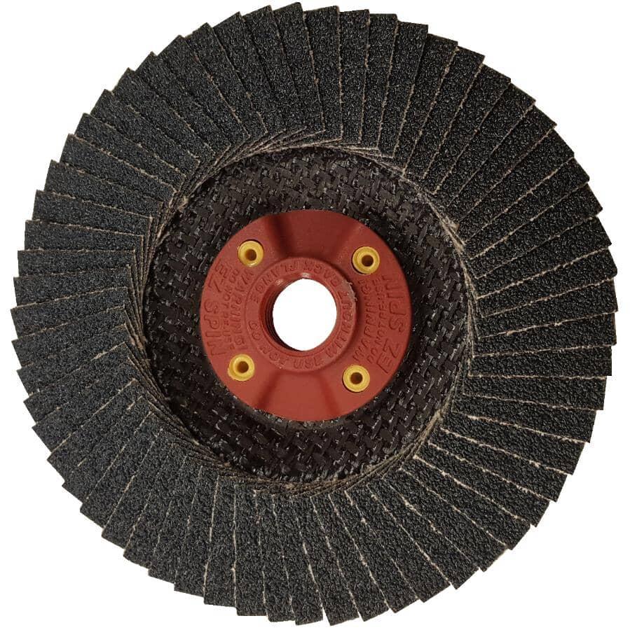 "BENCHMARK:60 Grit 4-1/2"" x 5/8"" Flap Disc Wheel"